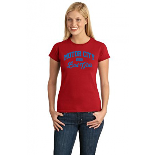 Motor City Bad Girls Red Blue T-Shirt