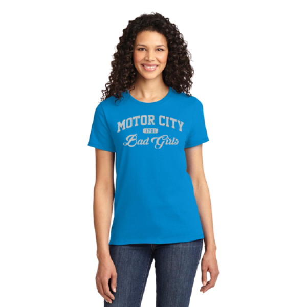 Motor City Bad Girls Sapphire Silver T-Shirt